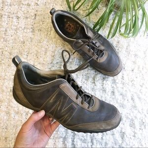 Merrell Moto Gunsmoke Brown Leather Sneaker Sz 11